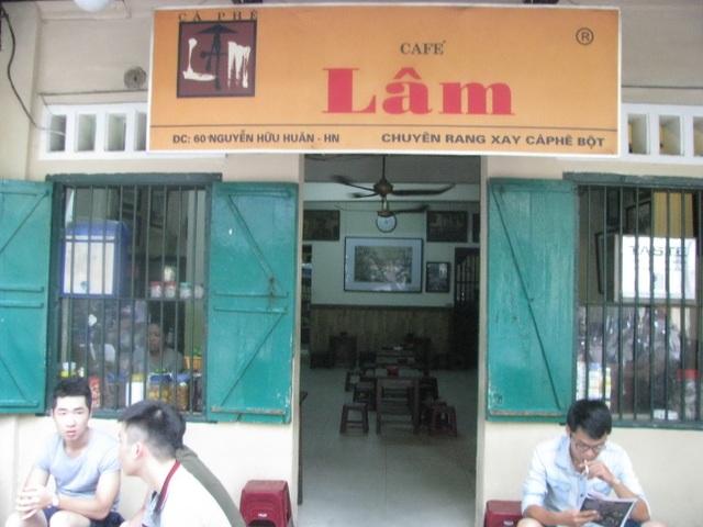 Cà phê Lâm - quán cà phê đi cùng năm tháng của Hà Nội. (Ảnh: Internet)