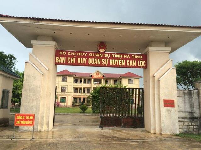 Ban chỉ huy quân sự huyện Can Lộc nơi ông Trung đang công tác