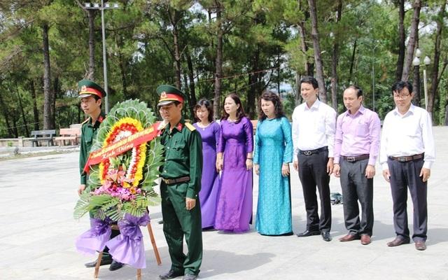 Các cơ quan, ban ngành trở về Quảng Trị để tri ân liệt sĩ