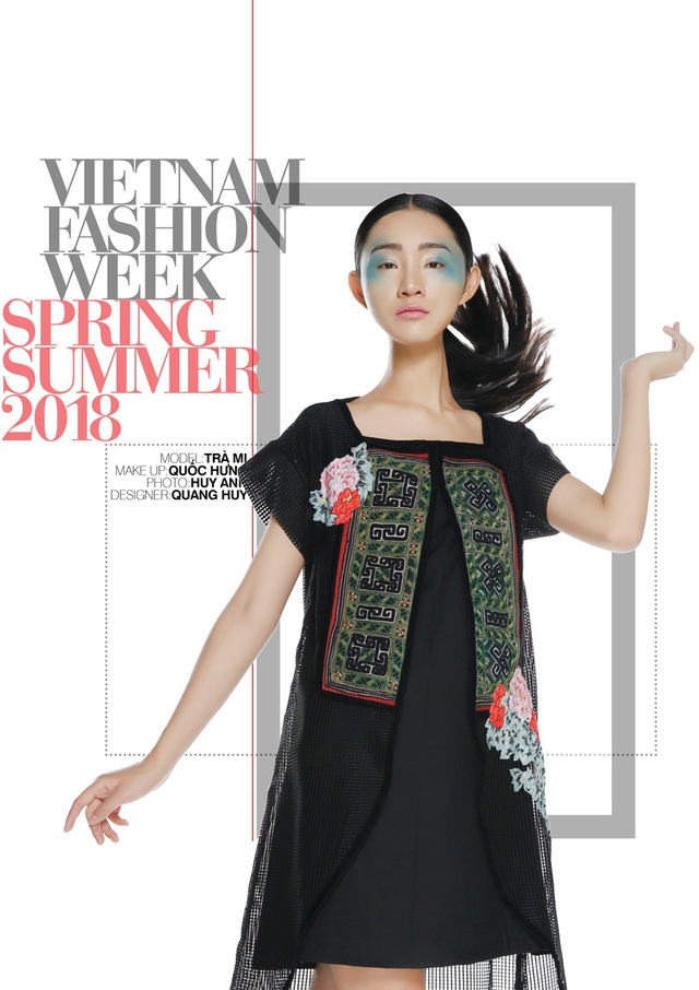Quang Huy kể câu chuyện Tây Bắc, anh kết hợp xu hướng chesmiss dress với đường nét áo dài thông qua sự chuyển tiếp của kết cấu trang phục. Nguyên liệu chủ đạo là lưới, ren kết hợp thổ cẩm. Với các thay đổi hiệu ứng từ kẻ đến ren đến hoa thêu đem lại một phong cách lãng mạn mang đậm nét truyền thống Việt mà vẫn hiện đại phù hợp xu thế. Tính ứng dụng được đưa vào những thiết kế trong BST một cách đa dạng với những lớp áo lưới trong, áo khoác, quần để có thể phối mix theo nhu cầu sử dụng mà vẫn mang lại cho người mặc một phong cách xuyên suốt: hiện đại mà rất thuần Việt.
