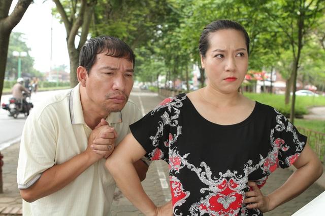 Vợ chồng Nhàn - Nhã trong phim.