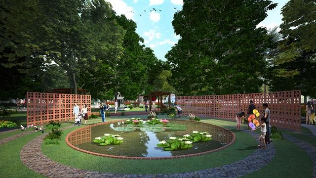 Khuôn viên xanh mát, thanh bình chính là điểm cộng của dự án