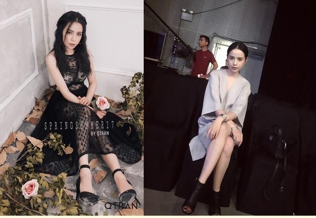 Quỳnh Trần còn làm người mẫu cho chính các thiết kế của mình.