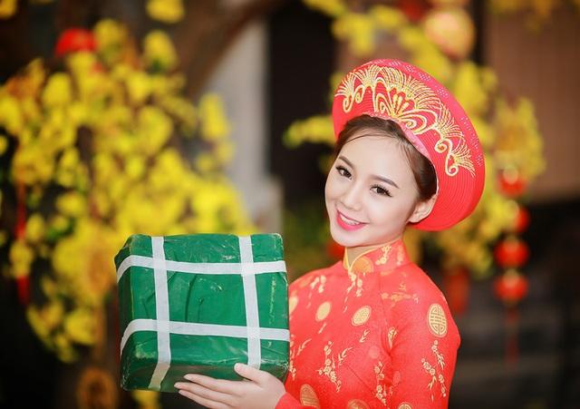 """""""Loa phường"""" Quỳnh Kool đáng yêu trong tà áo dài đón Xuân - 15"""
