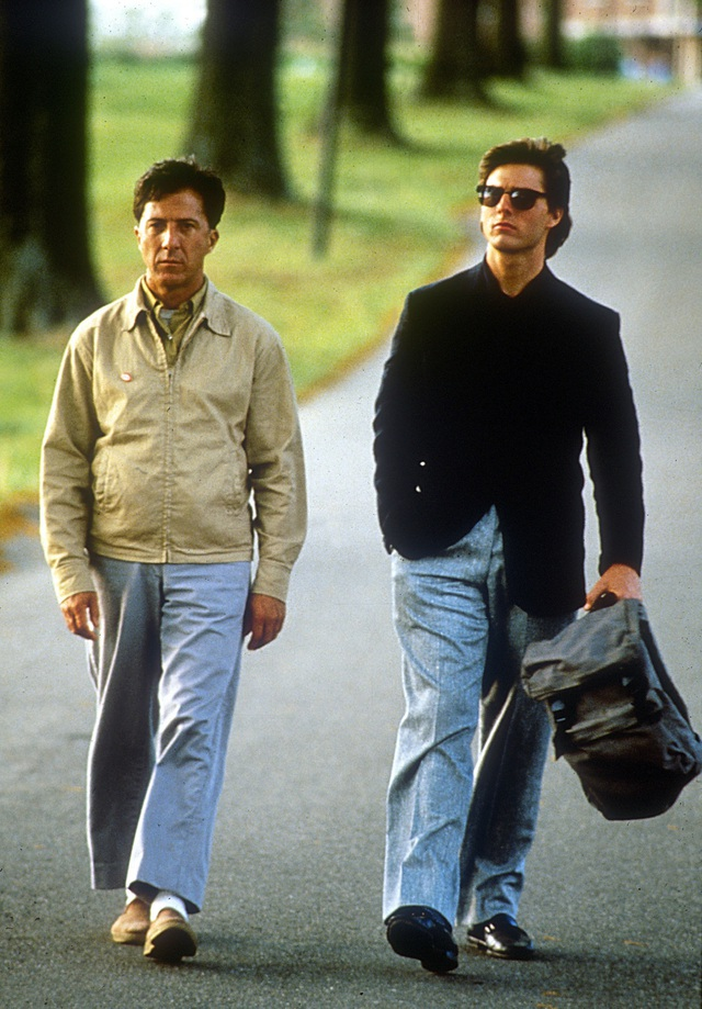 """Cảnh trong phim """"Rain Man"""" với diễn xuất chính của Dustin Hoffman và Tom Cruise."""
