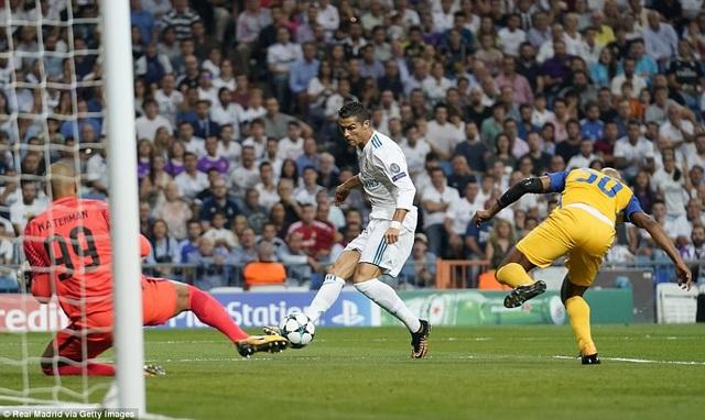 C.Ronaldo mở tỷ số cho Real Madrid