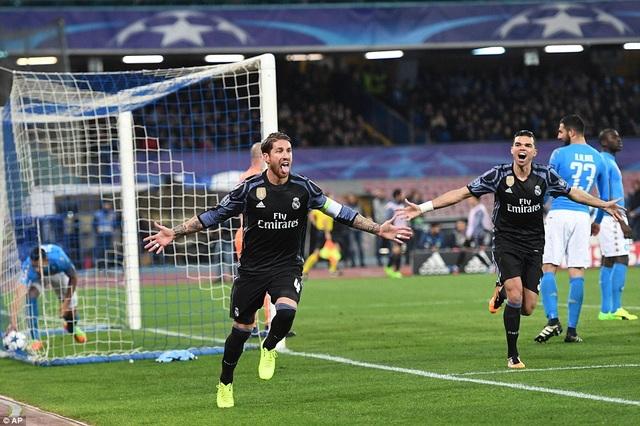 Ramos tiếp tục trở thành cứu tinh cho Real Madrid tại Champions League