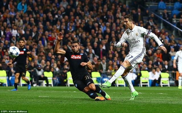 C.Ronaldo đã trải qua hơn 500 phút không ghi bàn tại Champions League