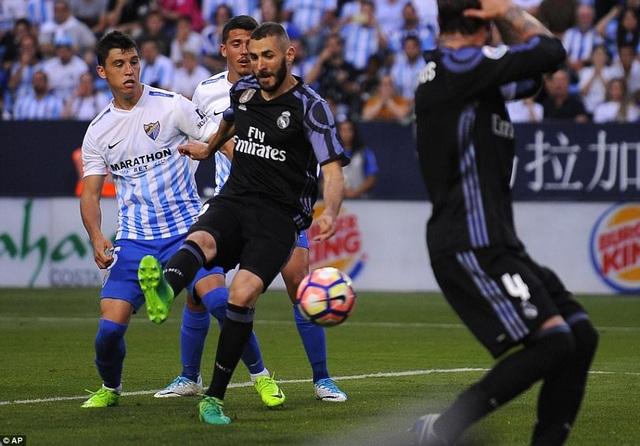 Real Madrid hạ Malaga 2-0 để lên ngôi vô địch La Liga năm ngoái