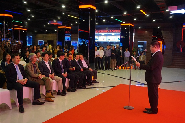 Lãnh đoạ Bộ VHTTDL, Cục Điện ảnh cùng nhiều bộ ngành đến dự lễ khai trương 4 phòng chiếu mới.