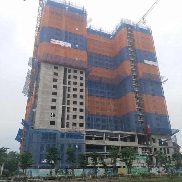 Riverside Garden đã xây đến tầng 26 trong tổng 31 tầng