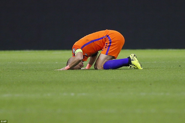Robben thất vọng khi Hà Lan không thể giành vé dự World Cup 2018