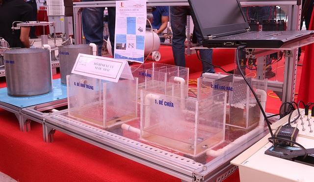 Mô hình xử lý nước thải.