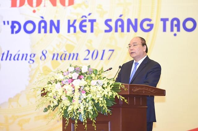 Thủ tướng Nguyễn Xuân Phúc phát biểu tại lễ công bố.