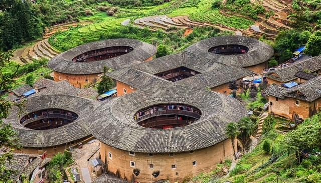 Thổ lâu Điền Loa Khanh, một trong những thổ lâu nổi tiếng nhất ở Phúc Kiến