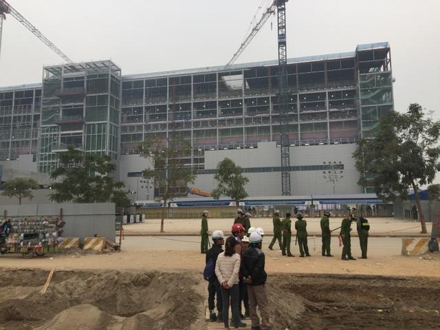 Công trường xây dựng, nơi xảy ra vụ xô xát giữa các công nhân với nhóm bảo vệ.