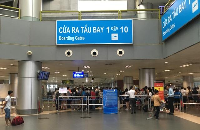 Khu vực kiểm tra an ninh tại sân bay Nội Bài hôm nay (20/7)