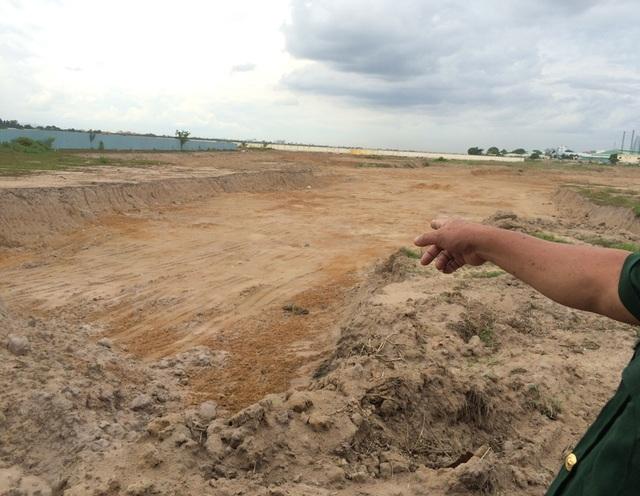 Khu vực này được đề nghị dừng thi công dự án để phục vụ công tác khảo sát tìm mộ liệt sĩ.