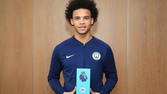 Leroy Sane nhận giải Cầu thủ xuất sắc nhất Premier League tháng 10