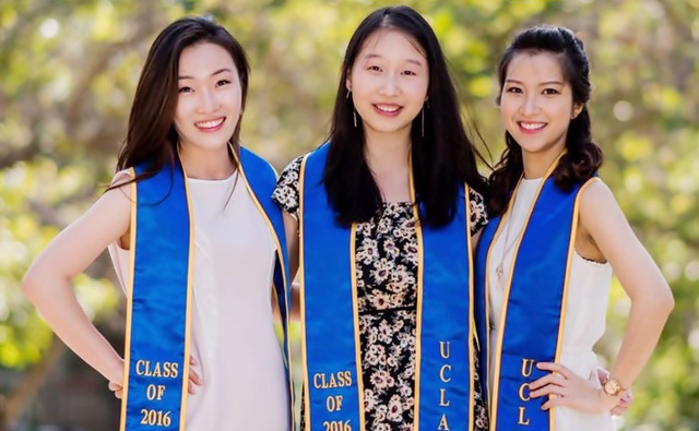 Sao Ly tốt nghiệp ngành Sinh học và Y tiến hóa tại ĐH California, Los Angeles năm 2016 (ảnh: Sao Ly và các bạn đại học)