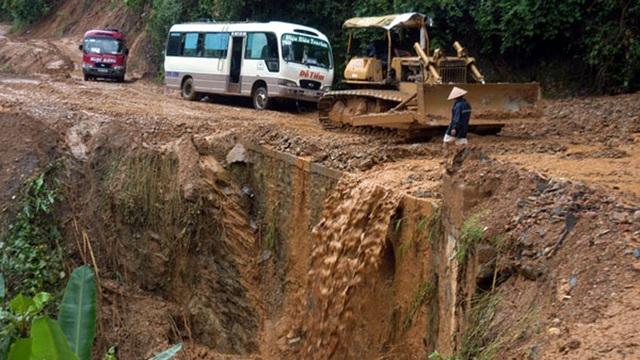 Nhiều tuyến đường ở Lai Châu luôn có nguy cơ sạt lở khi có mưa lớn (Ảnh: VOV giao thông)