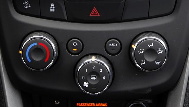 Vị trí lựa chọn đường gió trên Chevrolet Trax