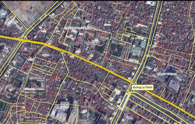 Tuyến đường Vành đai 1 (đoạn từ Hào Nam đến Láng Hạ) sẽ chạy song song với Đê La Thành