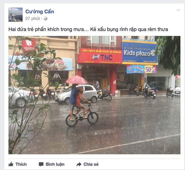 Dân mạng háo hức chia sẻ những hình ảnh cơn mưa đầu tiên sau đợt nắng nóng kỷ lục - 1