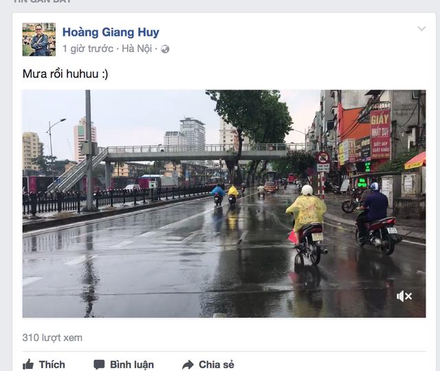 Dân mạng háo hức chia sẻ những hình ảnh cơn mưa đầu tiên sau đợt nắng nóng kỷ lục - 4