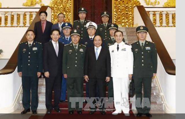 Thủ tướng Nguyễn Xuân Phúc tiếp Phó Chủ tịch Quân ủy Trung ương Trung Quốc - 2
