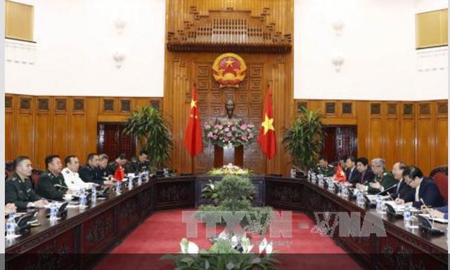 Thủ tướng Nguyễn Xuân Phúc tiếp Phó Chủ tịch Quân ủy Trung ương Trung Quốc - 1