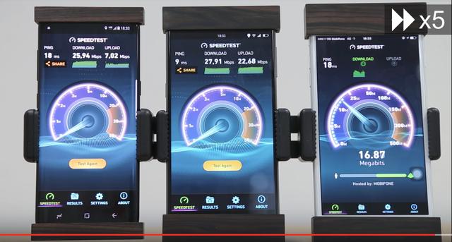Khả năng truyền tải dữ liệu 4G của Bphone nhỉnh hơn các đối thủ