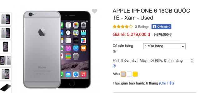 Giá iPhone cũ đang được điều chỉnh giảm khá nhiều