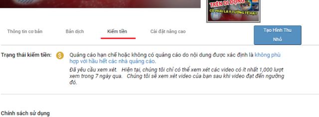 Nhiều kênh video ở Việt Nam đang bị xem xét quảng cáo chặt chẽ hơn