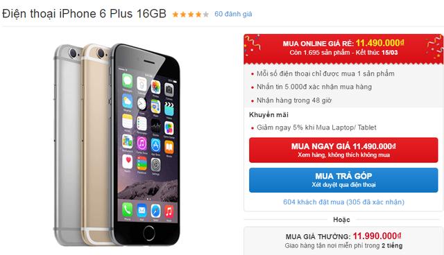 Ngược đời giá iPhone 6 Plus rẻ hơn cả iPhone 6 tại Việt Nam - 1