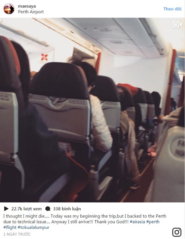 Đoạn ảnh GIF được chia sẻ trên mạng Instagram của hành khách trong chuyến bay nhanh chóng thu hút hàng chục ngàn lượt xem và hàng trăm bình luận.