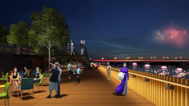 Đường đi bộ sát sông Hương sẽ được triển khai xong trước Festival 2018