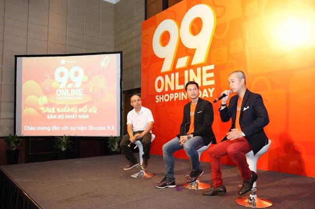 Ông Pine Kyaw, Giám đốc Shopee Việt Nam (giữa).