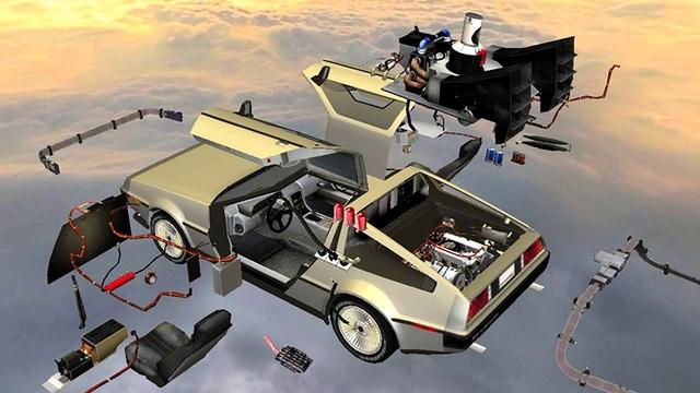Đồ họa mô tả việc thiết kế chiếc xe trong phim