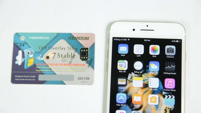 iPhone khóa mạng sử dụng SIM ghép để mở khóa thiết bị