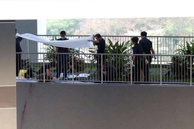 Thi thể của nam thanh niên người Việt được tìm thấy ở tầng 5 của khách sạn Boss (Ảnh: Straitstimes)