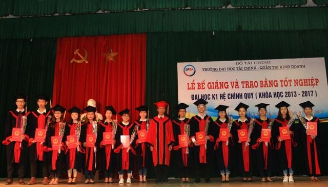 Lễ tốt nghiệp của sinh viên Trường Đại học Tài chính - Quản trị Kinh doanh.