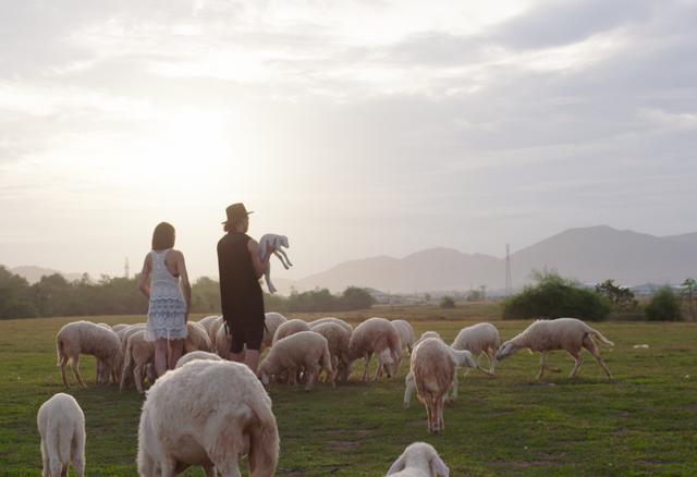 Hình ảnh lãng mạn trong MV khi quay ở Bình Thuận.
