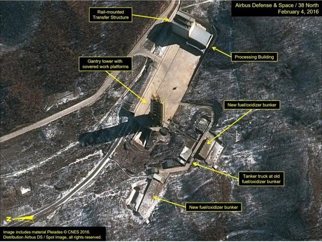 Ảnh chụp vệ tinh trạm phóng vệ tinh Sohae của Triều Tiên (Ảnh: 38 North)