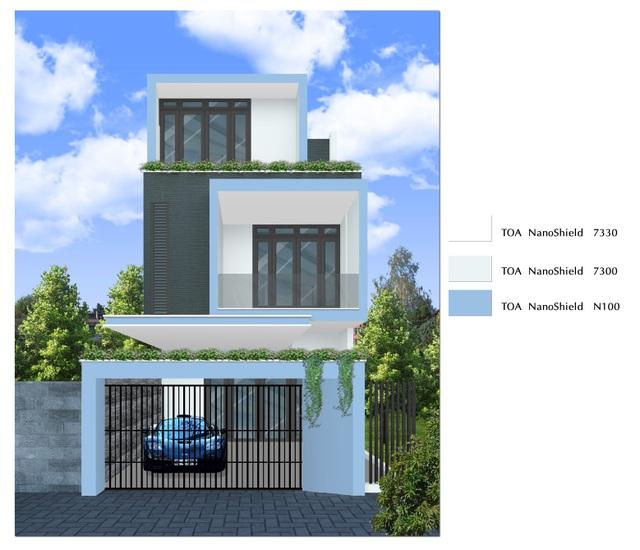 Sơn với công nghệ Nano giúp ngôi nhà luôn mới, đẹp, bền màu với thời gian