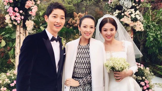 Chương Tử Di là khách mời trong đám cưới của Song Hye Kyo và Song Joong Ki.