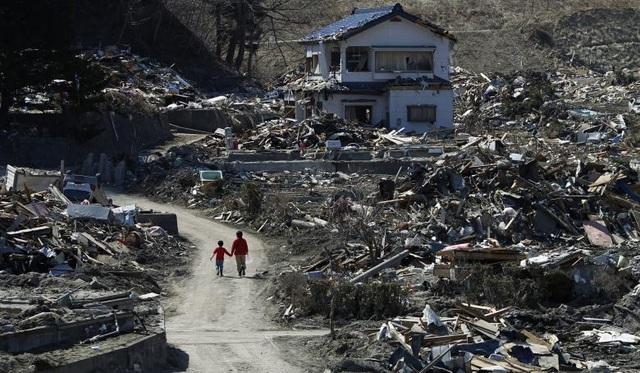 Sóng thần đã cuốn trôi nhà cửa, xe cộ, tàu thuyền và xoá sổ các cộng đồng ven biển.