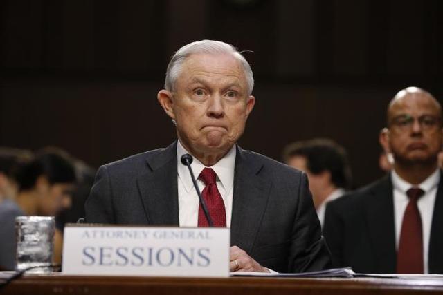 Bộ trưởng Tư pháp Mỹ Jeff Sessions. (Ảnh: Reuters)