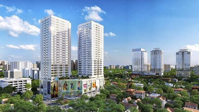 Xuất hiện toà tháp đôi căn hộ cao cấp mới nổi trung tâm quận Thanh Xuân - 1