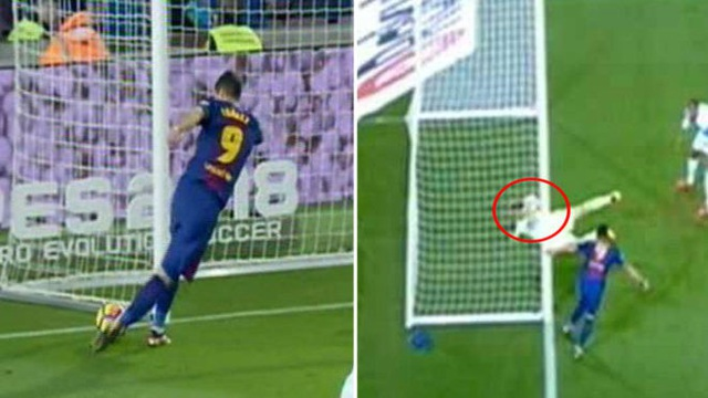 Bàn thắng hợp lệ của Luis Suarez